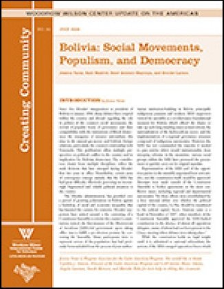 Bolivia: Social Movements, Populism, and Democracy