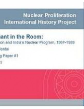 The Elephant in the Room: The Soviet Union and India's Nuclear Program, 1967-1989