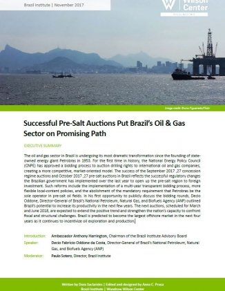Event Summary: Successful Pre-Salt Auctions Put Brazil's Oil & Gas Sector on Promising Path