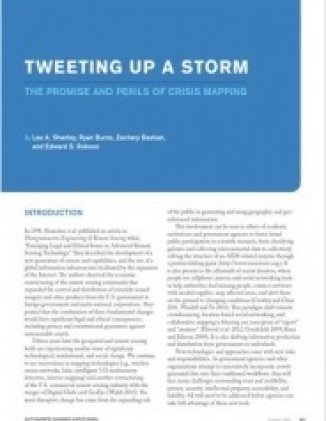 Tweeting Up a Storm: The Promise and Perils of Crisis Mapping