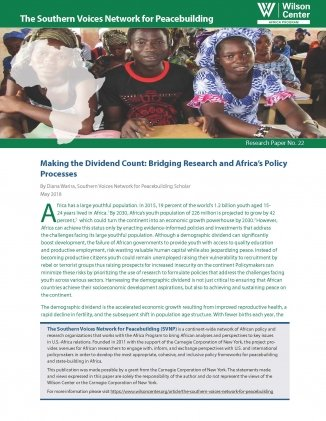 Making the Dividend Count: Bridging Research and Africa's Policy Processes