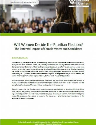 Event Summary: Will Women Decide the 2018 Brazilian Election? The Potential Impact of Female Voters and Candidates