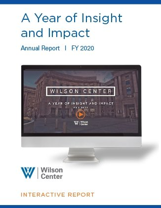 Wilson Center Annual Report FY20 Cover