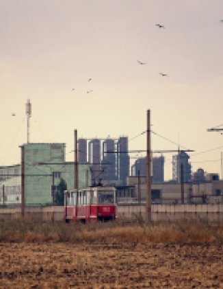 Coke chemical factory located in Avdeevka, Ukraine.