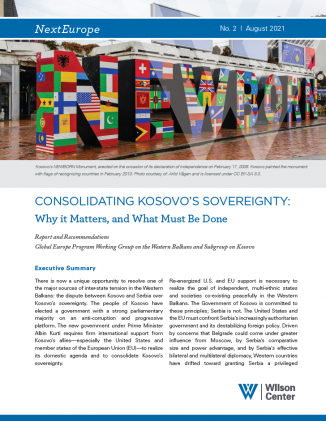 Cover of Consolidating Kosovo's Sovereignty: Why it Matters, and What Must Be Done