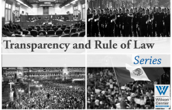 Transparency and the Rule of Law Series
