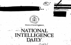 The National Intelligence Daily was the CIA's principal form of intelligence analysis as communism fell in Eastern Europe.