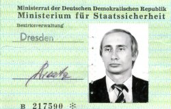 A photo ID card issued to a young Vladimir V. Putin by the Stasi. Source: BStU, MfS, BV Dresden, HA KuSch, Nr. 7216, pp. 4a-4b.