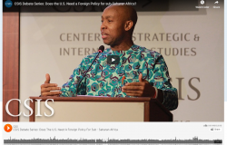 Does the U.S. Need a Foreign Policy for Sub-Saharan Africa? Watch Africa Program Director Dr. Monde Muyangwa Address this Question at the CSIS Africa Program's Inaugural Debate