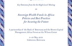 Key Outcomes from the High-Level Meeting on Sovereign Wealth Funds in Africa: Policies and Best Practices for Securing the Future