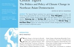 Green Tigers: The Politics and Policy of Climate Change in Northeast Asian Democracies