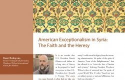 American Exceptionalism in Syria: The Faith and the Heresy