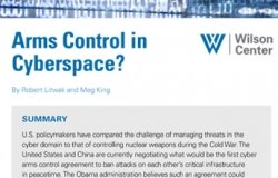 Arms Control in Cyberspace?