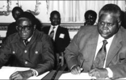 Robert Mugabe and Todor Zhivkov