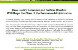 Event Summary: How Brazil's Economic and Political Realities Will Shape the Plans of the Bolsonaro Administration