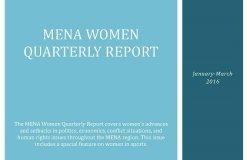 MENA Women Quarterly Report (January-March 2016)