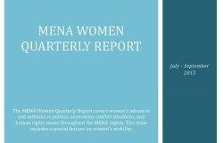 MENA Women Quarterly Report (July-September 2015)