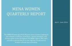 MENA Women Quarterly Report (April-June 2016)
