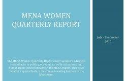 MENA Women Quarterly Report (July-September 2016)