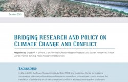 Bridging Research and Policy on Climate Change and Conflict