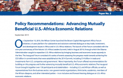 Policy Recommendations and Options: Advancing Mutually Beneficial U.S.-Africa Economic Relations