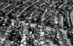 Andrei Vyshinsky speaks at the United Nations General Assembly, September 18, 1947.