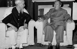 Mao Zedong and Ho Chi Minh, May 1965