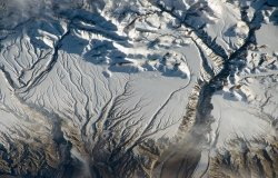 Rivers and Snow in the Himalayas near China–India border.