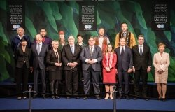 Family photo at the 11th Arctic Council Ministerial Meeting in Rovaniemi.