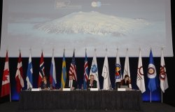 Representing 8 Arctic state flags, 6 Permanent Participant flags and one flag for the Arctic Council