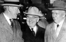 Truman with Acheson and Marshall, December 26, 1950