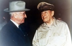 Truman and MacArthur, Wake Island, October 14, 1950