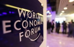 Emblem of the World Economic Forum in Davos, Switzerland