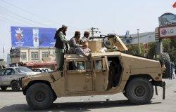 Taliban Fighters in Humvee