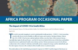 COVID-19 South Africa paper
