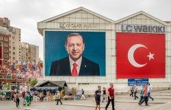 Portrait of Prime Minister Recep Tayyip Erdogan