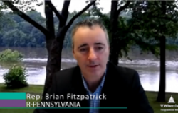 Video still from interview with Rep. Brian Fitzpatrick