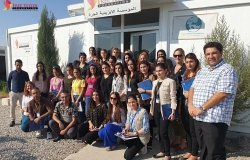 Team members of the Free Yazidi Foundation