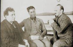 Image: Grigory Zinoviev, Nikolai Bukharin, and Claude_McKay, 1923