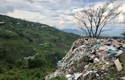 Pile of trash in Yunnan countryside