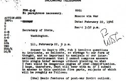 Kennan's Long Telegram