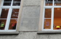 Inscription at Polish school for North Korean orphans