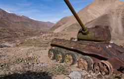 Abandoned Soviet Tank in Afghanistan