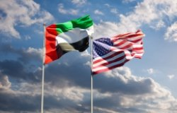 US UAE Flags