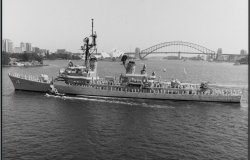USS Buchanan Visiting Sydney, New South Wales, Australia circa 1985
