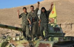 YPG fighters in Syria