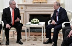 Benjamin Netanyahu and Vladimir Putin