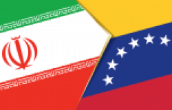 Iran and Venezuela flags, two vector flags symbol of relationship or confrontation.