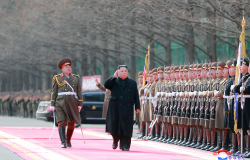 Kim Jong Un visits Ministry of the People's Armed Forces