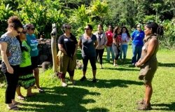 Outdoor workshop addressing climate change in Hawai'i